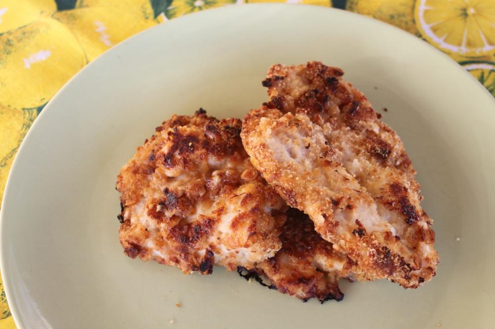 Crocchette di pollo impanate nei salatini