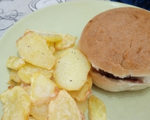 Hamburger e chips